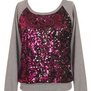 NASTY GAL Sparkling Fuchsia Pink Holiday Sweater